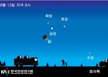[뉴스] 13일 밤하늘에 수·금·화·토성과 달이 '옹기종기'