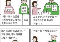 [만평] 논문의 윤리, 만화의 윤리